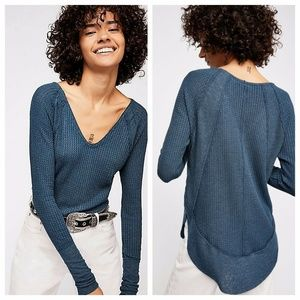 NEW Free People Catalina Thermal Large Blue/Green